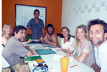 Students during Spanish class at Habla Ya Bocas del Toro Spanish School